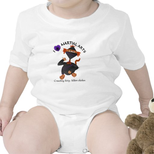 Gato lindo de Ninja de la camiseta del bebé