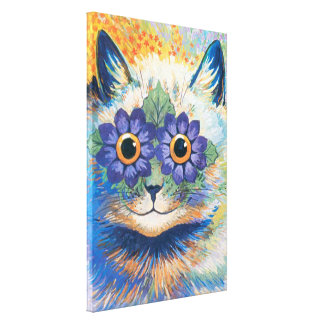 Gato lindo de Wain Lona Envuelta Para Galerías