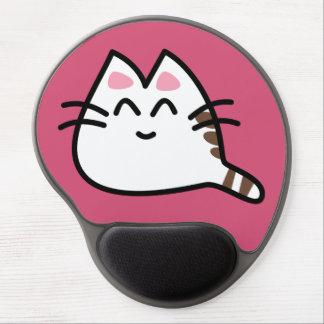 Gato lindo del animado alfombrilla de ratón con gel