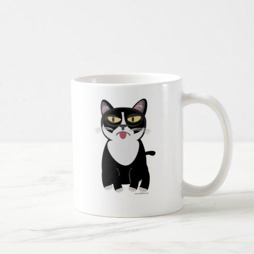 Gato lindo del dibujo animado de Sourpuss Taza