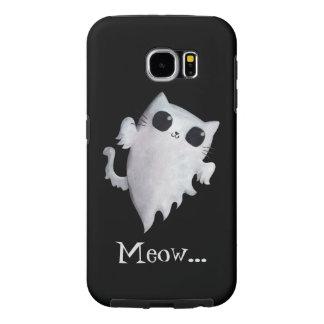 Gato lindo del fantasma de Halloween Funda Samsung Galaxy S6