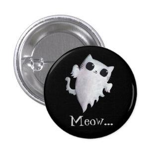 Gato lindo del fantasma de Halloween Pin Redondo 2,5 Cm