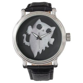 Gato lindo del fantasma de Halloween Reloj De Mano