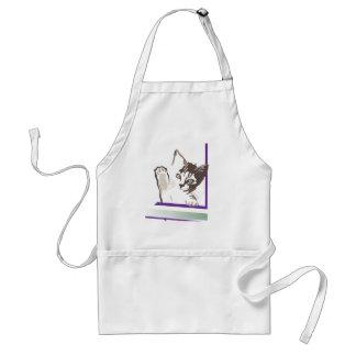 Gato lindo del gatito delantal