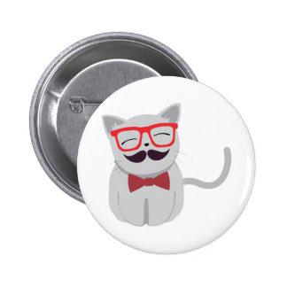 Gato lindo del inconformista pin redondo 5 cm