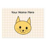 Gato lindo del jengibre. Compruebe el fondo Tarjetas De Visita Grandes