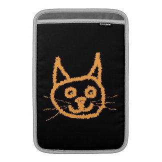 Gato lindo del jengibre funda para macbook air