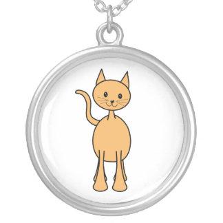 Gato lindo del jengibre. Historieta anaranjada del Colgante Redondo
