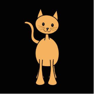 Gato lindo del jengibre. Historieta anaranjada del Fotoescultura Vertical