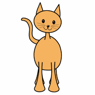 Gato lindo del jengibre. Historieta anaranjada del Esculturas Fotográficas