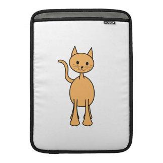 Gato lindo del jengibre. Historieta anaranjada del Funda Macbook Air