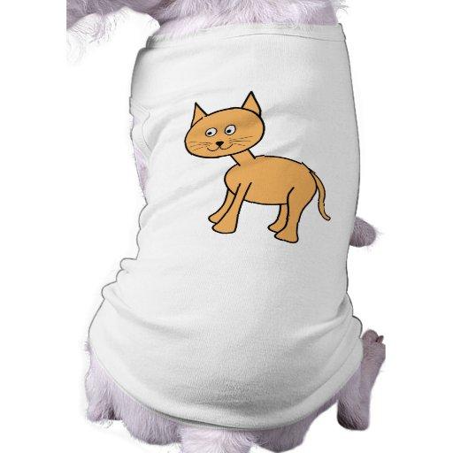 Gato lindo del jengibre. Historieta anaranjada del Camisa De Perro