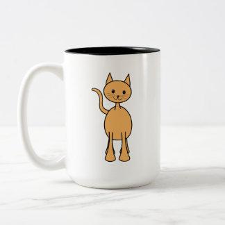 Gato lindo del jengibre. Historieta anaranjada del Tazas