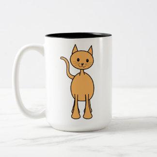 Gato lindo del jengibre. Historieta anaranjada del Taza