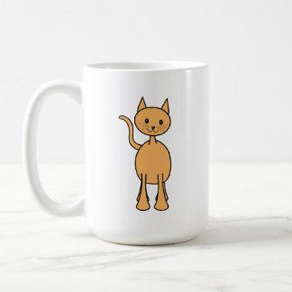 Gato lindo del jengibre. Historieta anaranjada del Taza De Café