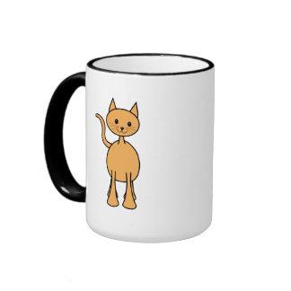 Gato lindo del jengibre. Historieta anaranjada del Tazas De Café