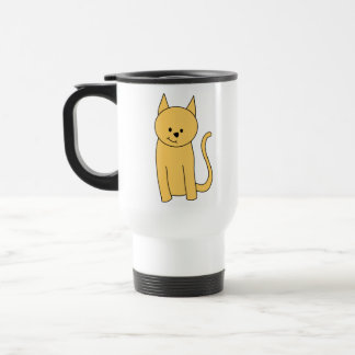 Gato lindo del jengibre taza de café