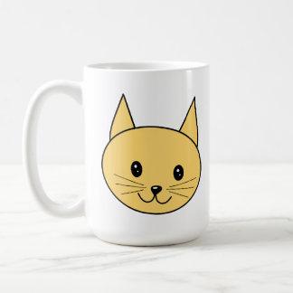 Gato lindo del jengibre tazas