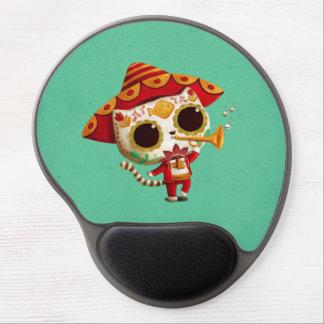 Gato lindo del mariachi mexicano del EL Alfombrilla Gel