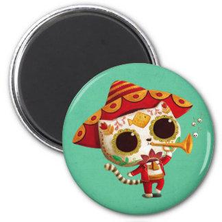 Gato lindo del mariachi mexicano del EL Imán Redondo 5 Cm