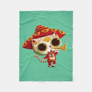 Gato lindo del mariachi mexicano del EL Manta De Forro Polar