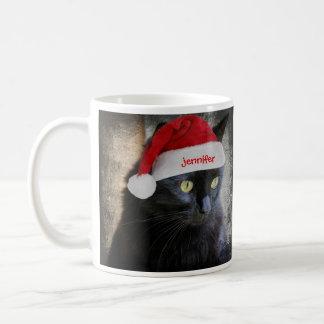 Gato lindo del navidad, nombre modificado para req tazas de café