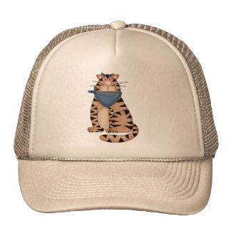 Gato lindo del país gorras