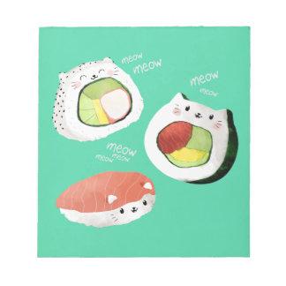 Gato lindo del sushi blocs