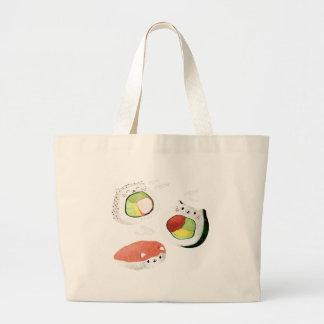 Gato lindo del sushi bolsa de mano
