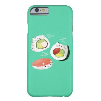 Gato lindo del sushi funda de iPhone 6 barely there