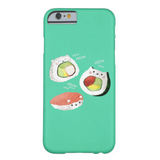Gato lindo del sushi funda para iPhone 6 barely there