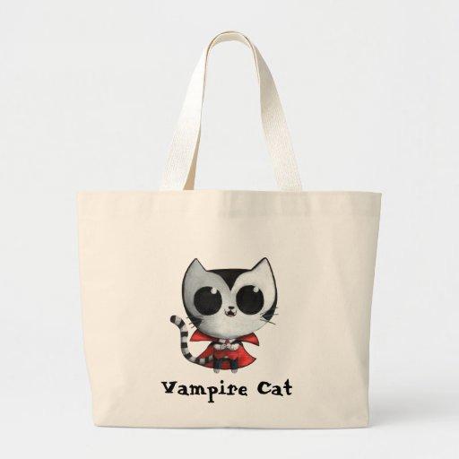 Gato lindo del vampiro bolsas lienzo