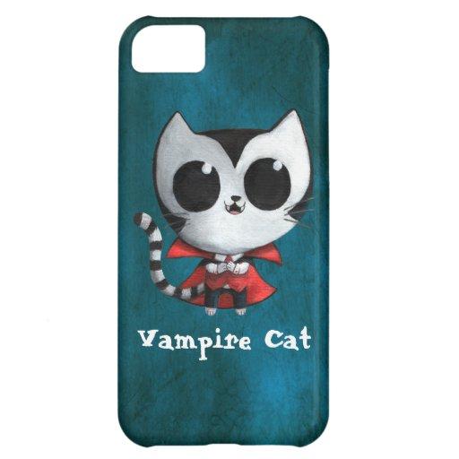 Gato lindo del vampiro funda para iPhone 5C