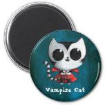 Gato lindo del vampiro iman de frigorífico