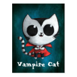 Gato lindo del vampiro postal