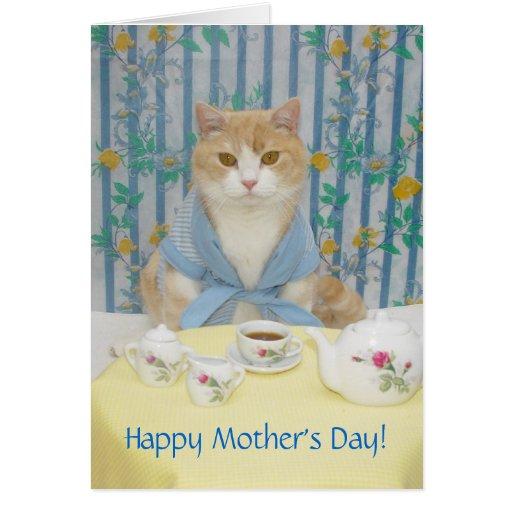 Gato lindo/divertido adaptable tarjeta de felicitación
