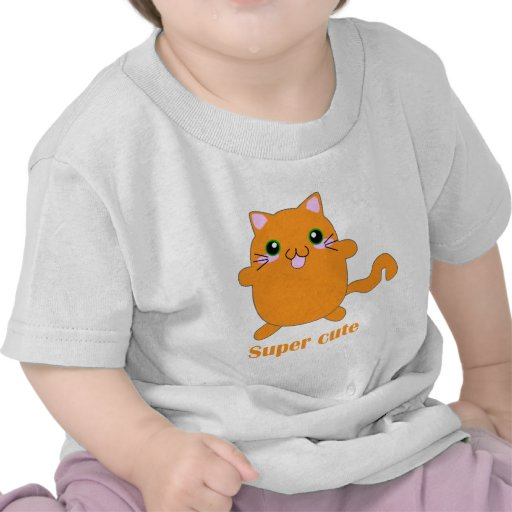 gato lindo estupendo del jengibre camisetas