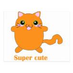 gato lindo estupendo del jengibre postal