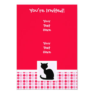 Gato lindo invitación 12,7 x 17,8 cm