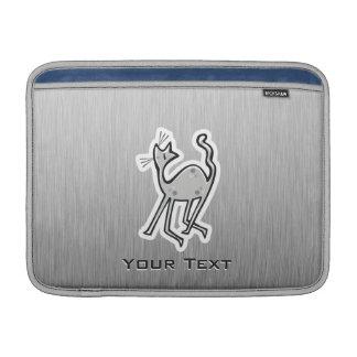 Gato lindo Metal-mirada Funda MacBook