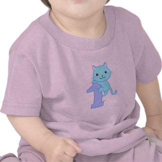 Gato lindo número 1 camiseta