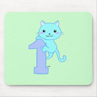 Gato lindo número 1 tapetes de ratón