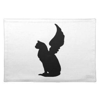 Gato lindo Placemat del ángel Mantel