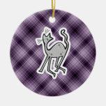 Gato lindo; Púrpura Ornamente De Reyes