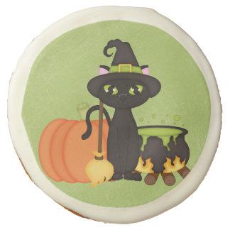 Gato lindo retro del búho de Halloween