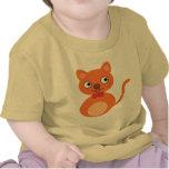 Gato lindo y anaranjado camiseta