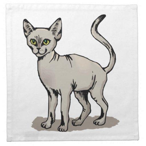 Gato liso servilleta de papel