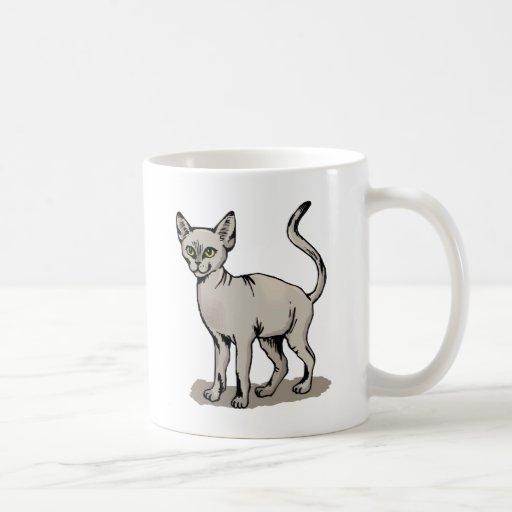 Gato liso taza de café