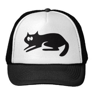 Gato listo para saltar los ojos negros de Topsy Gorras De Camionero