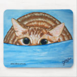 Gato listo para saltar Mousepad Alfombrillas De Raton